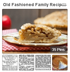 "photo of GenealogyBank's Pinterest board ""Old Fashioned Family Recipes"""