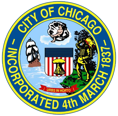 photo of the official city seal of Chicago, Illinois