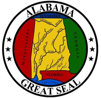 photo of the official state seal of Alabama