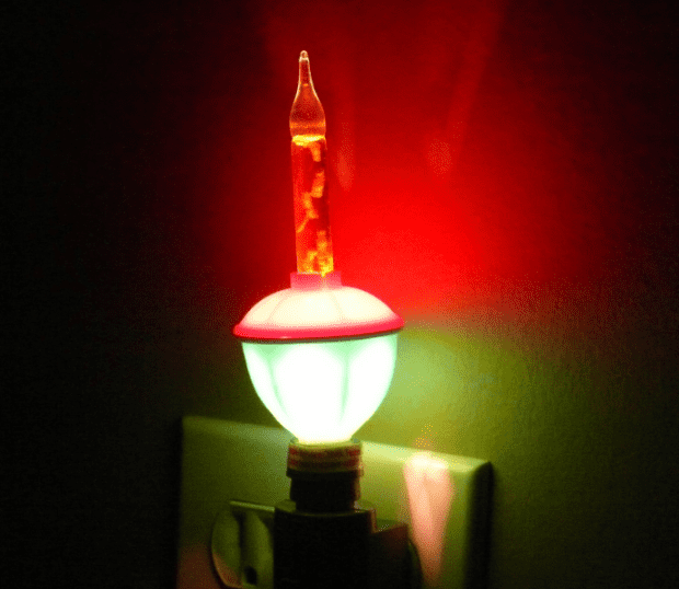 photo of a bubble nightlight