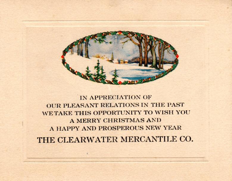a vintage Christmas card