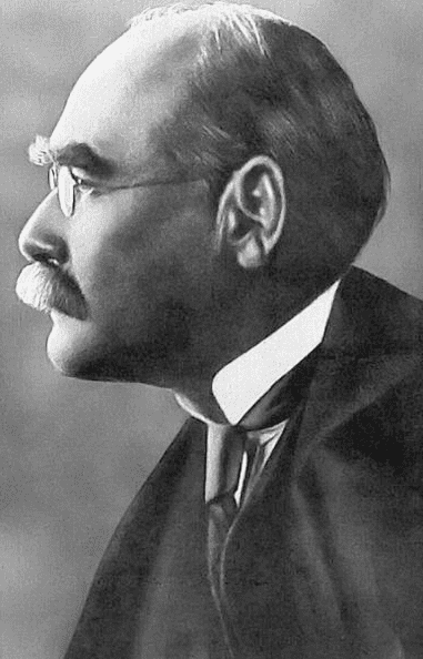 a photo of British author Rudyard Kipling