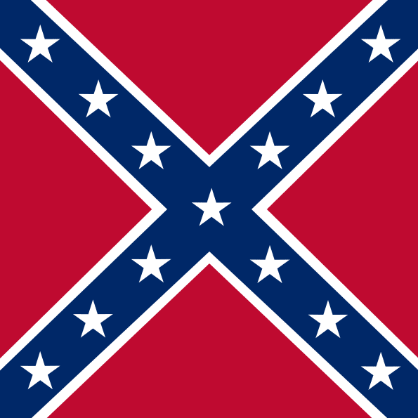a photo of the Confederate battle flag of the Army of Northern Virginia