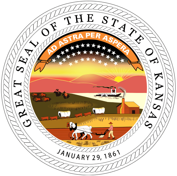 the official state seal of Kansas