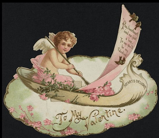 an 1890 Valentine Day's card