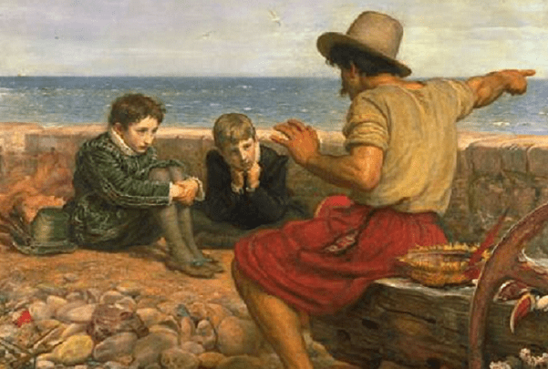 Painting: The Boyhood of Raleigh, by John Everett Millais, 1871. Credit: Wikimedia Commons.