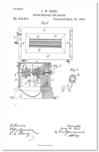 illustration of Judy Reed's dough kneader