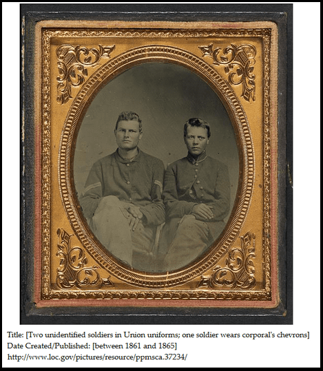photo of a corporal in the Union army during the Civil War