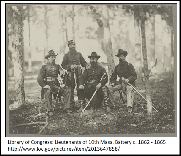 photo of lieutenants in the Union army during the Civil War