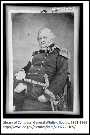 photo of Lieutenant General Winfield Scott, General-in-Chief of the Union armies during the Civil War