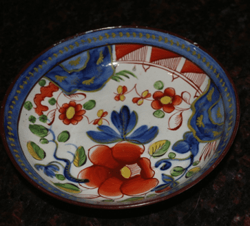 "photo of Gaudy Dutch ""Single Rose"" pottery"