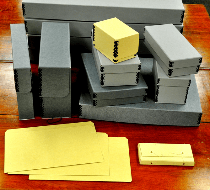 photo of archival boxes and folders