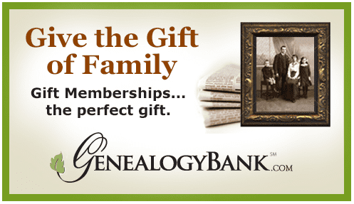 banner ad for subscriptions to GenealogyBank