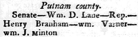 article abourt Henry Branham, Georgia Argus newspaper article 7 October 1812