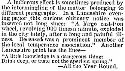 Jersey Journal newspaper article 20 October 1890