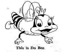 "illustration of Romper Room's ""Do Bee,"" Omaha World Herald newspaper article 3 April 1966"