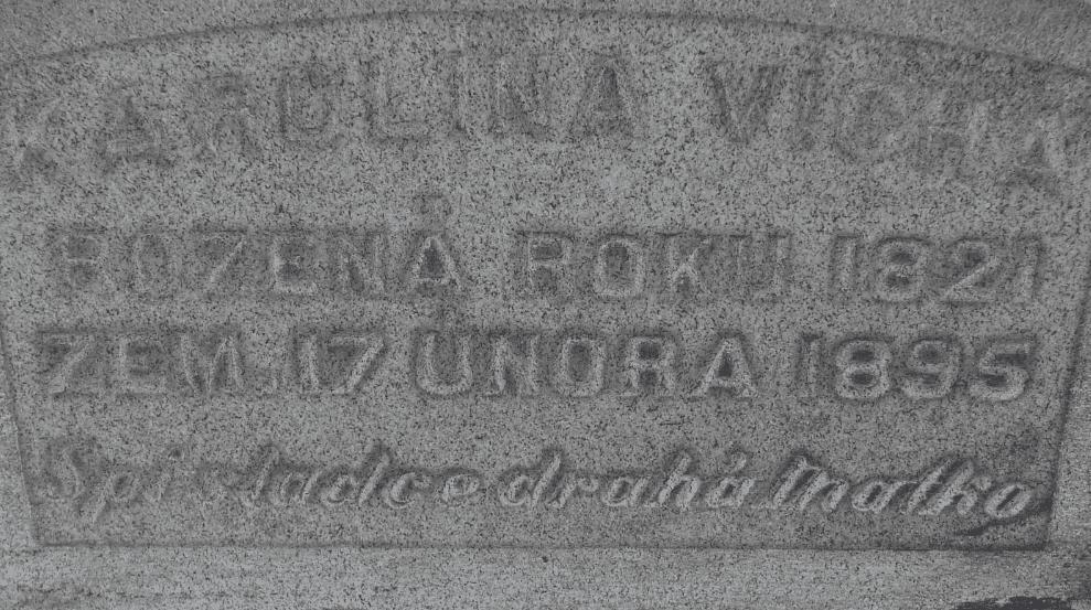 Tombstone of Karolina Porkony, Cleveland OH