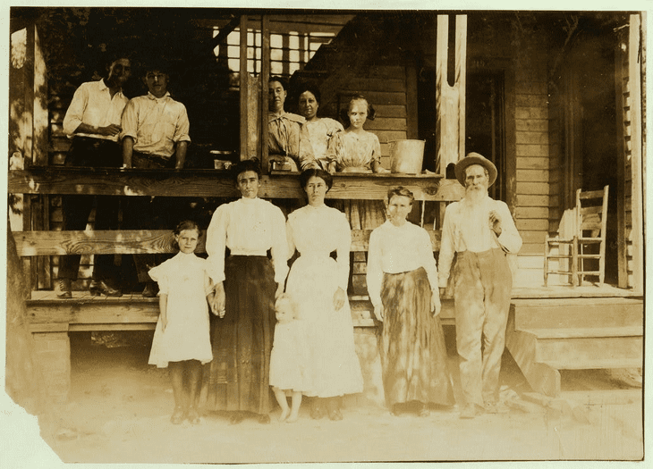 photo of the B. F. Clark family