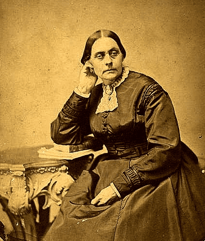 photo of women's rights advocate Susan B. Anthony at age 50