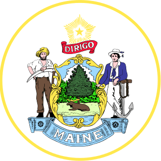 photo of the official state seal of Maine