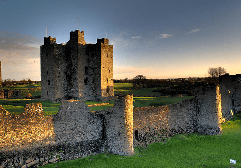 12th-century Trim Castle in County Meath, Ireland