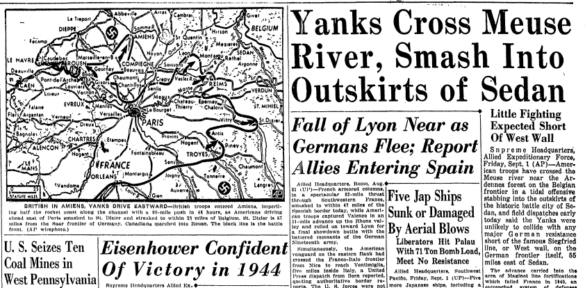 world war ii newspaper articles