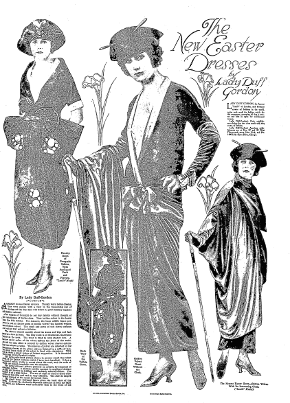 The New Easter Dresses, Duluth News-Tribune newspaper article 13 March 1921
