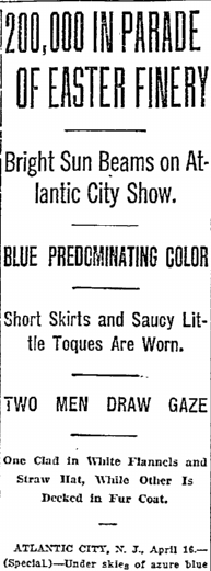 200,000 in Parade of Easter Finery, Oregonian newspaper article 17 April 1922