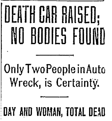 article about the fatal car accident of Frisco Day, Oregonian newspaper article 13 June 1910