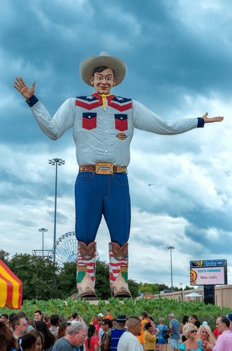 "photo of the ""Big Tex"" statue in Houston, Texas"