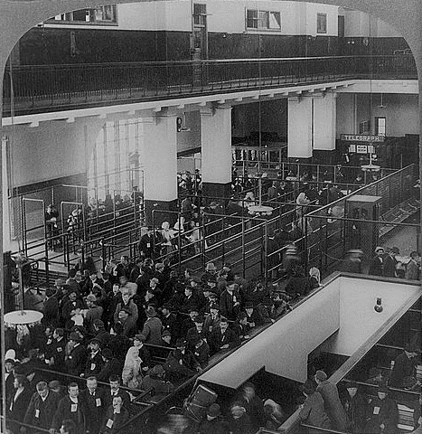 photo of the Immigrant Building, Ellis Island, New York Harbor, c.1904