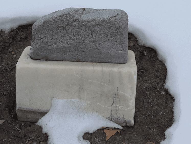 photo of the headstone for Josef Vicha