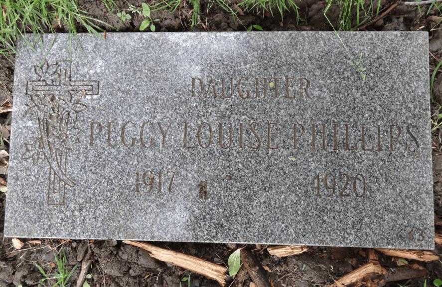 photo of the restored gravesite of Scott Phillips' ancestor Peggy Phillips
