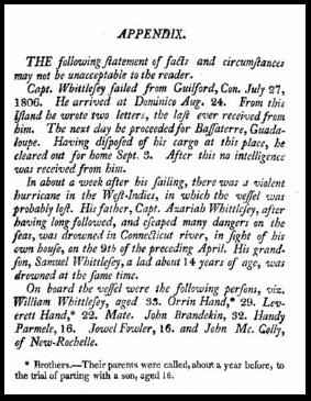 photo of the funeral sermon for William Whittlesey, 1807
