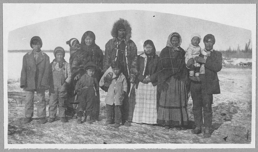 photo of a family in Fort Yukon, Alaska