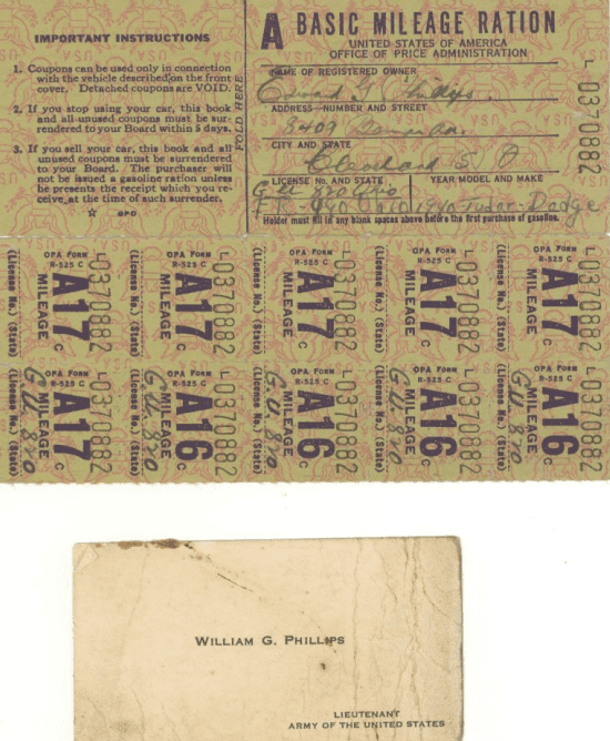 photo of WWII ration coupons