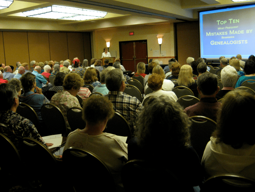photo of a lecture from last year's Jamboree genealogy conference