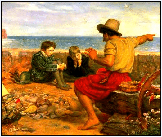 "the painting ""Boyhood of Raleigh,"" 1871, by John Everett Millais"