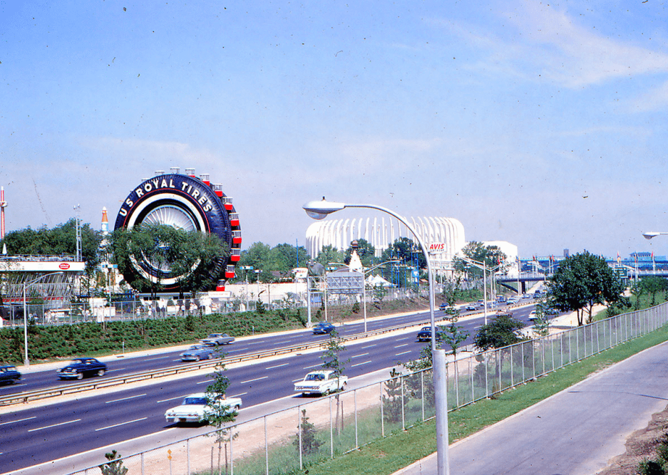 photo of the US Royal Tire Ferris Wheel from the 1964 World's Fair