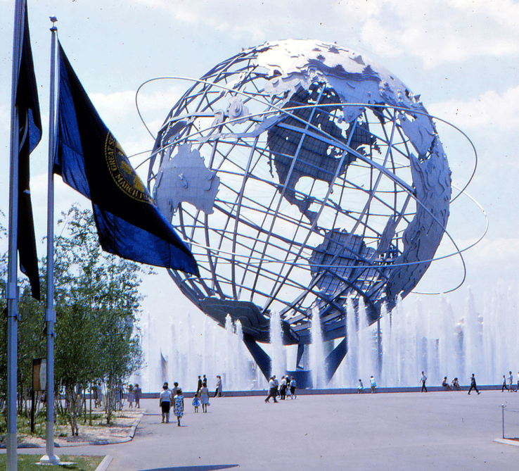 photo of the 1964 World's Fair Unisphere