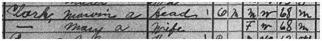 Marvin and Mary Clark, 1920 Census, Tigard, Oregon