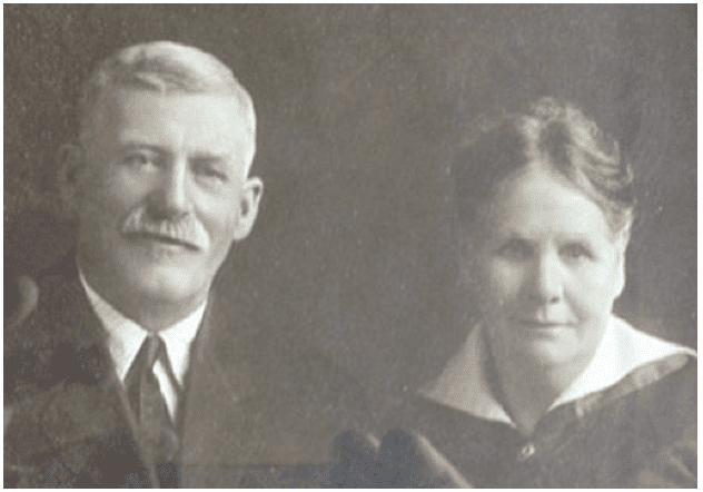 photo of Marvin A. Clark and an unidentified woman (probably his wife Mary)