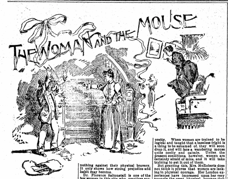 illustration to accompany an article about Mary Stanton, San Francisco Chronicle newspaper article 24 June 1894