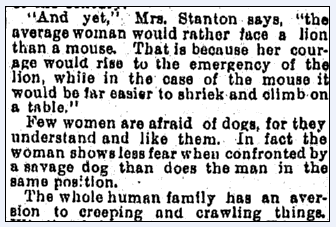 article about Mary Stanton, San Francisco Chronicle newspaper article 24 June 1894