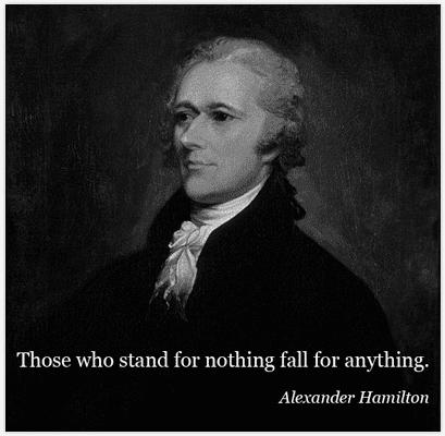 portrait of Alexander Hamilton, by John Trumbull