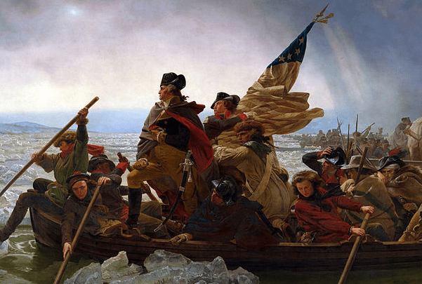 Painting: Washington Crossing the Delaware, by Emanuel Leutze (1851). Source: Wikimedia Commons.