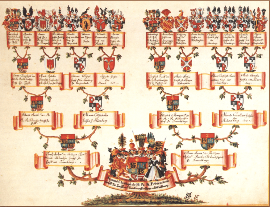 photo of a family tree chart