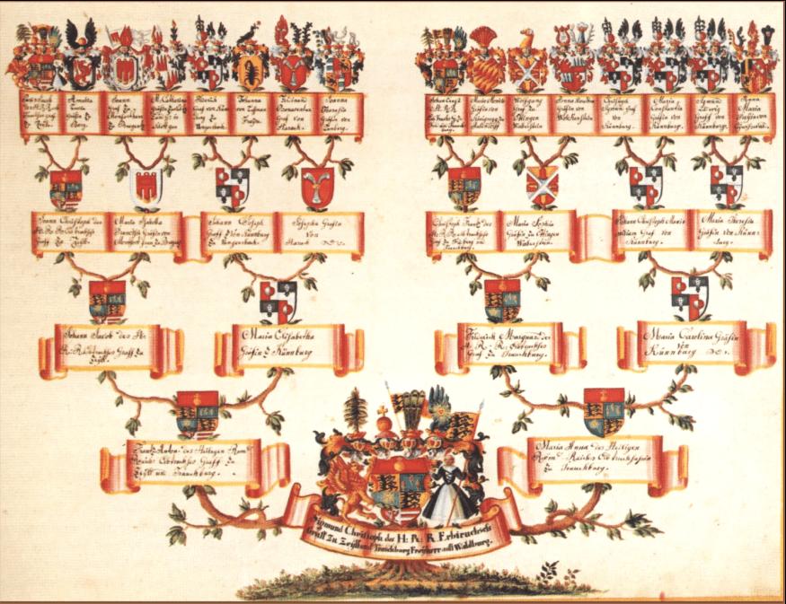 photo of a family tree chart