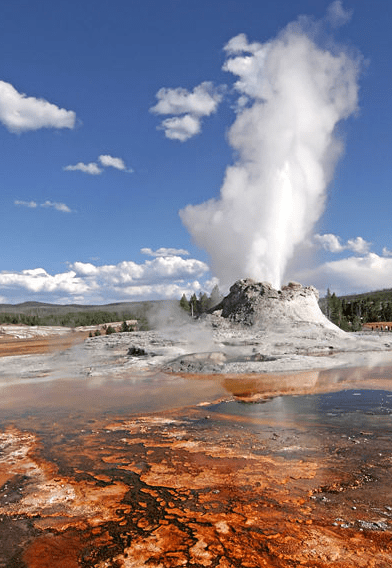 photo of Castle Geyser, Yellowstone National Park, Wyoming