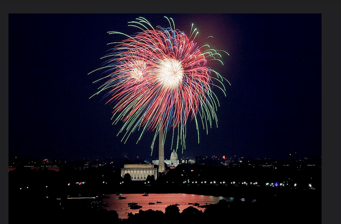 photo of Fourth of July fireworks over the nation's Capitol
